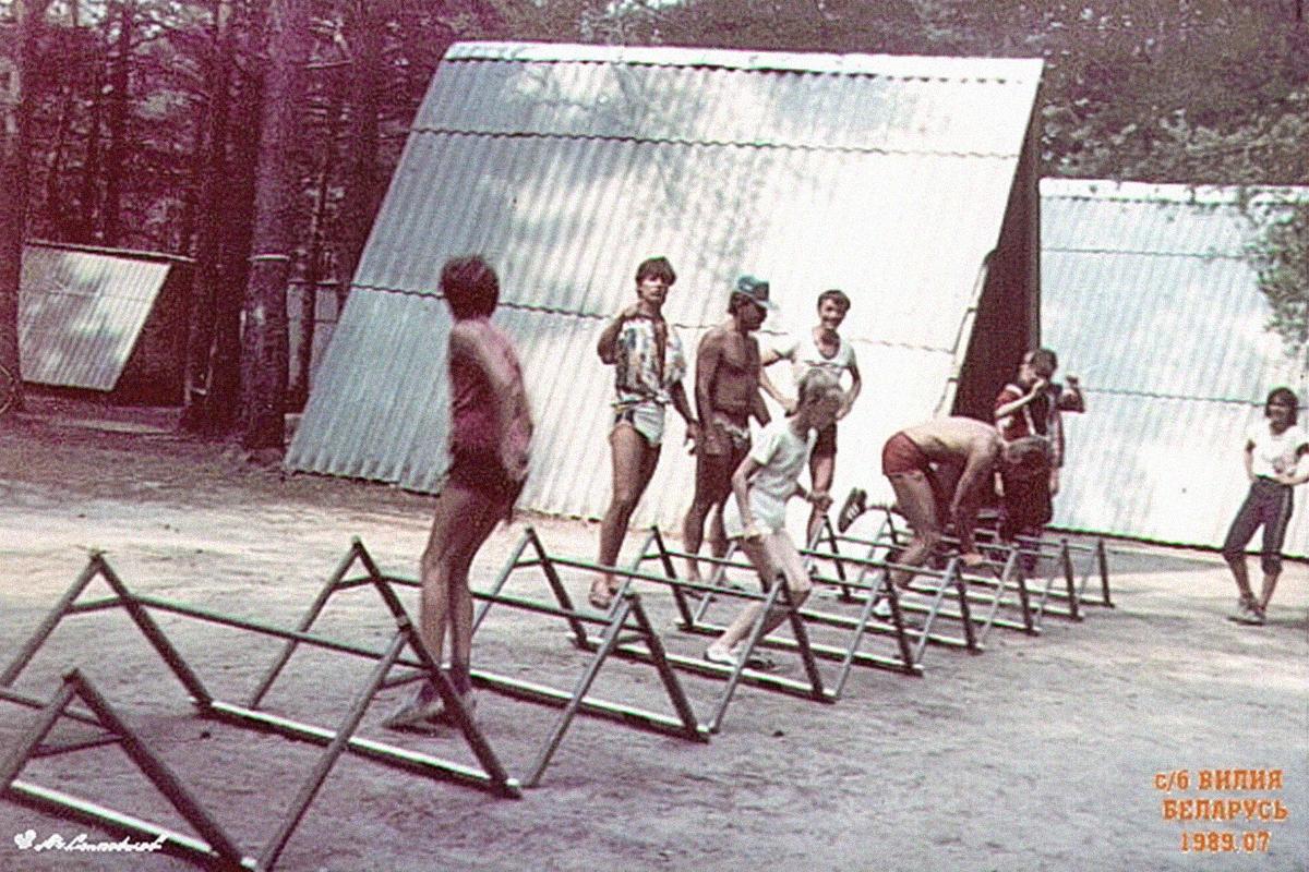 Тренировка сборной по фристайлу в УСБ «Вилия», 1989 год